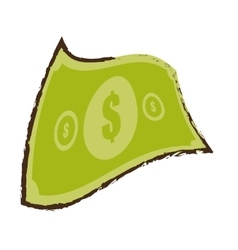 american dollar money bill sketch vector image