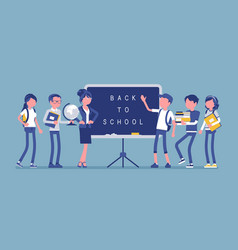 back to school day vector image