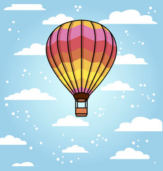 background with air balloon and clouds vector image