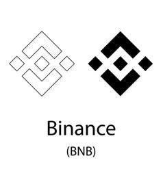 binance black silhouette vector image