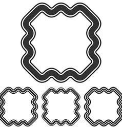 Black line marketing logo design set vector