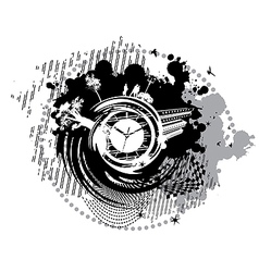 card with the clock on it vector image