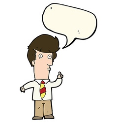 Cartoon man with question with speech bubble vector
