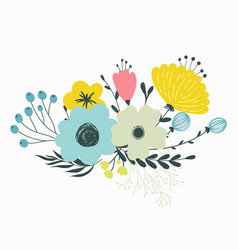 Colorful set of floral compositions in vector