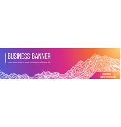 computer banner business banner design eps vector image