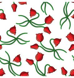contour tulip pattern vector image