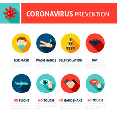 coronavirus prevention tips infographic vector image