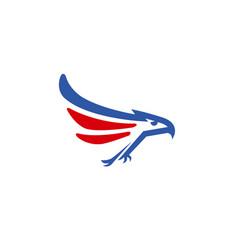 Creative blue red eagle logo vector