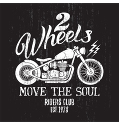 Custom Motorcycle Print vector