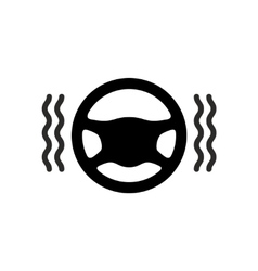 Driving wheel warmer heater icon vector
