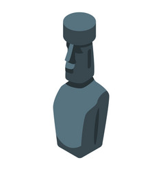 Easter island statue icon isometric style vector