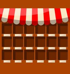 empty supermarket wooden showcase vector image