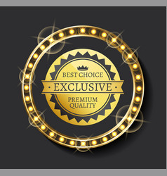 exclusive ad best choice premium quality vector image