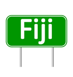 Fiji road sign vector