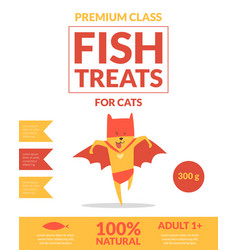 fish treats for cats banner template pets food vector image