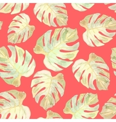 Floral seamless Monstera vector