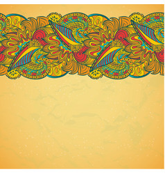 Flower ornamental frame in eastern style vector