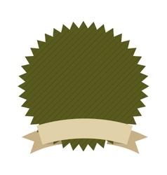 Frame ribbon green icon vector