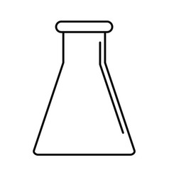 glass flask icon outline style vector image