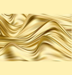 Golden wave background paint streams vector
