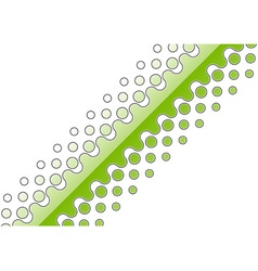 green abstract decoration on the white vector image