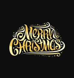 greeting card for merry christmas vector image