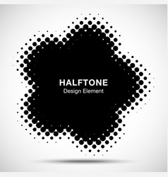 Halftone dots circle frame logo design element vector