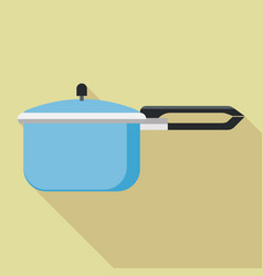 Hand pressure cooker icon flat style vector