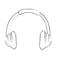 headset communication isolated icon vector image