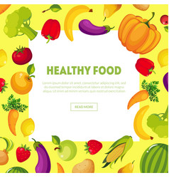 healthy food banner with space for text fresh vector image