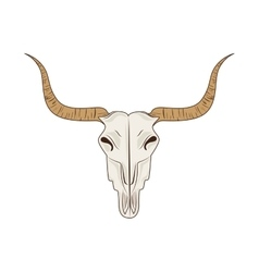 Icon big horn bull skull isolated vector