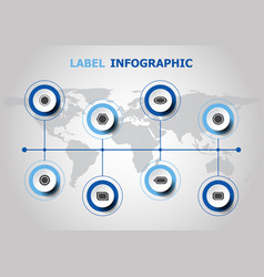 infographic design with label icons vector image