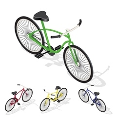 Isometric retro bicycle vector
