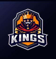 king knight mascot logo vector image