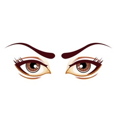 lady eyes vector image