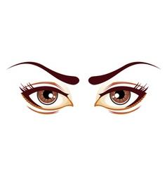 Lady eyes vector