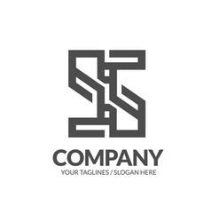 letter s geometric strong monogram logo vector image