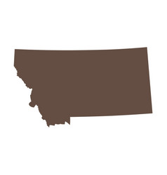 Map us state montana vector