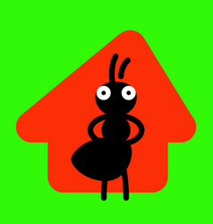 Master house serious ant and his home vector