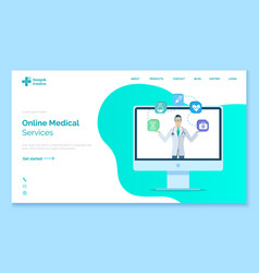 medical service for treatment and support vector image