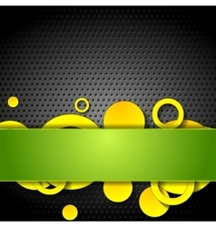 Metal perforated texture and tech elements vector