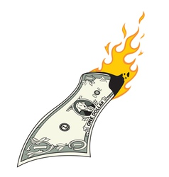 money to burn vector image