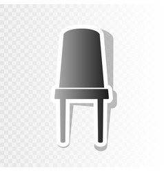 office chair sign new year blackish icon vector image
