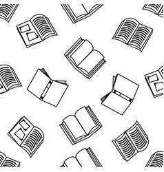 open books with outline seamless pattern vector image