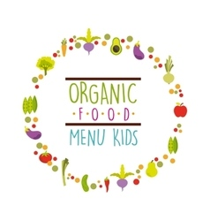 Organic food menu design vector
