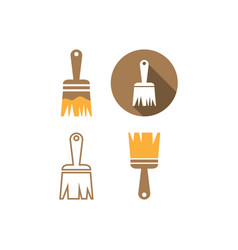 paint brush icon graphic design template vector image