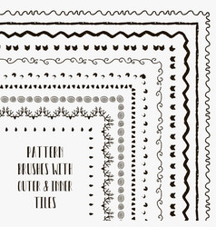 pattern brushes with outer and inner tiles vector image