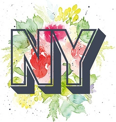 Print for T-shirt Pattern NY vector image