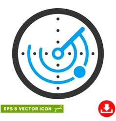 Radar Eps Icon vector image