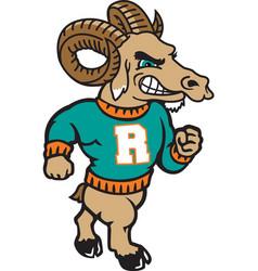 Ram logo mascot vector
